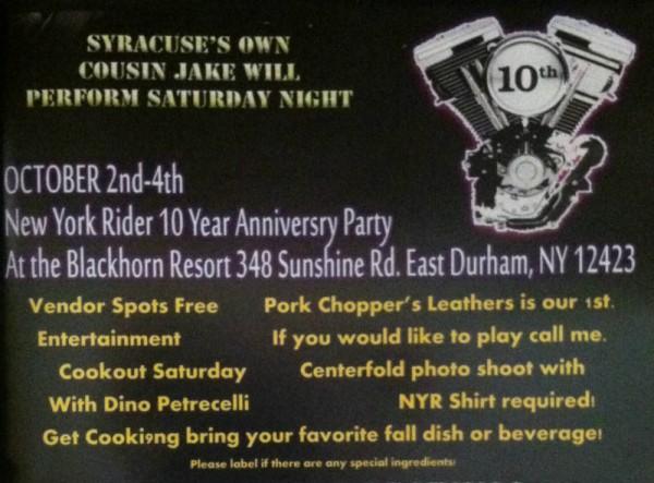 NY Rider 10th Anniversary Party