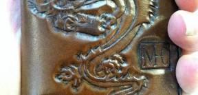 Smalll Custom Tooled NKMC Chain Wallet
