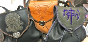 Custom Tooled Knapsacks