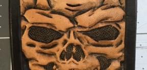 "Custom Leather Sheath for 4.5"" Foledrs"