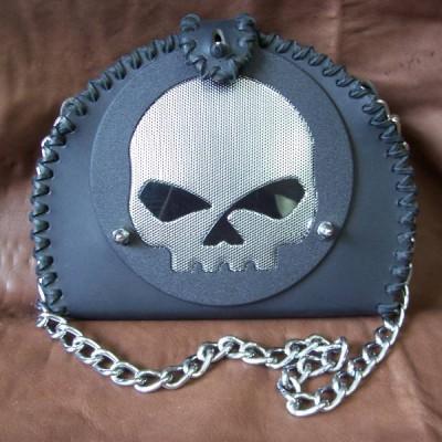 Chrome Skull Black w/ Black Lace